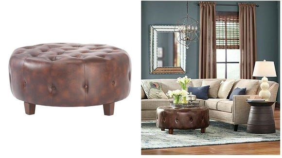 Add some elegance to your living room with this ottoman.