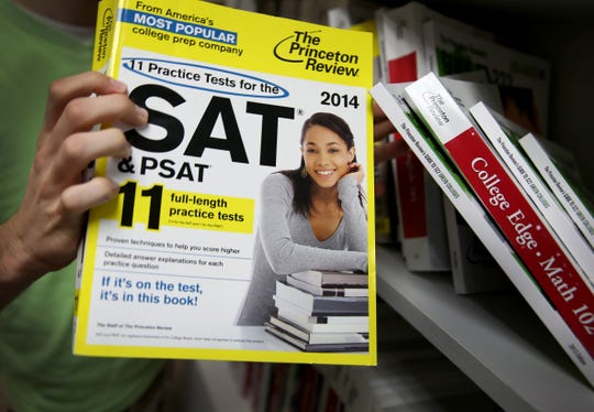 A Princeton Review SAT Preparation book is seen on March 6, 2014 in Miami, Florida.