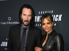 HOLLYWOOD, CALIFORNIA - MAY 15: Keanu Reeves and Halle Berry attend the premiere of John Wick: Chapter 3 - Parabellum in Hollywood, May 15, 2019. The movie opens on May 17, 2019.