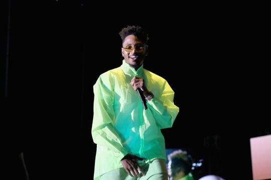 Trey Songz performs onstage at SOMETHING IN THE WATER - Day 3 on April 28, 2019 in Virginia Beach City.