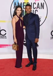 Jamie Foxx and his daughter, Corinne Foxx, at the American Music Awards on Nov. 19, 2017 in Los Angeles, California.
