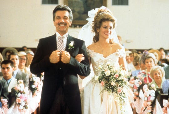 "Tom Skerritt played father of the bride to Julia Roberts in ""Steel Magnolias."""