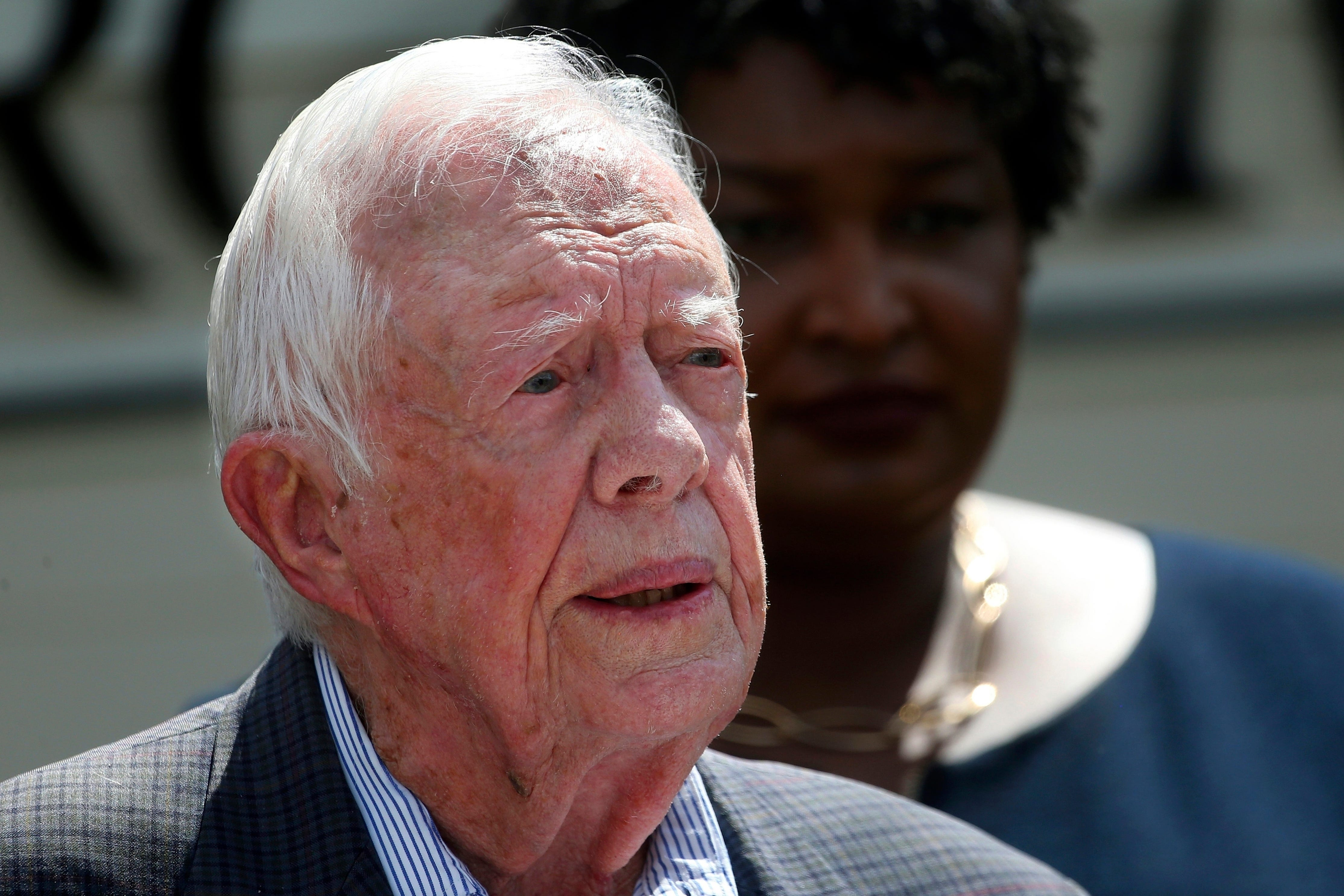 Jimmy Carter cancels plans to teach Sunday school days after surgery for broken hip