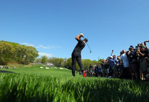 First round: Brooks Koepka on the 15th green.