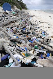 977,000 shoes washed up on the shores of a remote tropical island chain in the Indian Ocean.