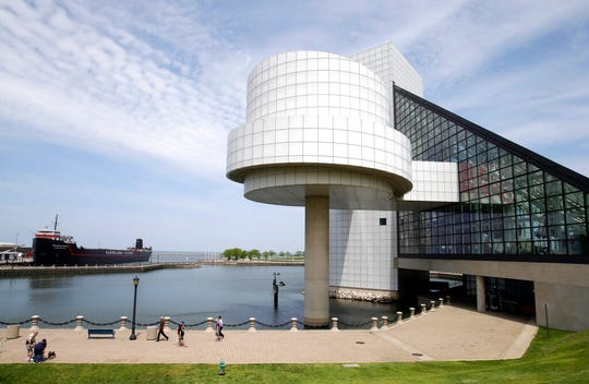 This May 21, 2013, file photo shows the exterior of the Rock and Roll Hall of Fame in Cleveland, designed by architect I.M. Pei. Pei.