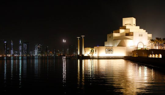 This Dec. 1, 2008, file photo shows The Museum of Islamic Art, foreground, designed by American architect I.M. Pei, and the skyline of Doha, Qatar.