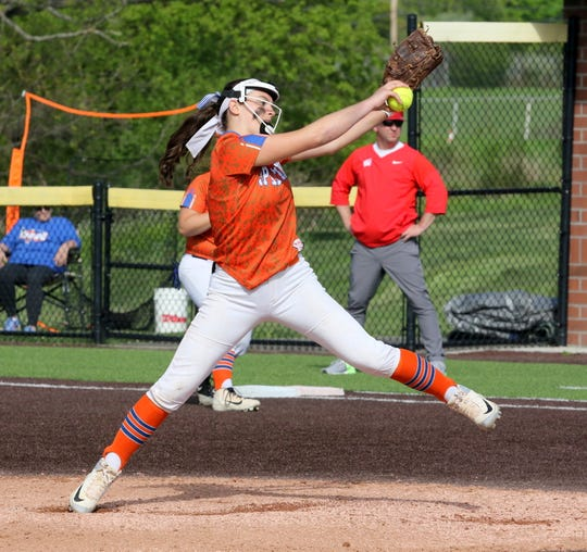 Bella Willsey struck out 15 and pitched a three-hitter for Thomas A. Edison in a 2-1 victory over Waverly in the Interscholastic Athletic Conference softball championship game on May 16, 2019 at Cornell's Niemand-Robison Field.