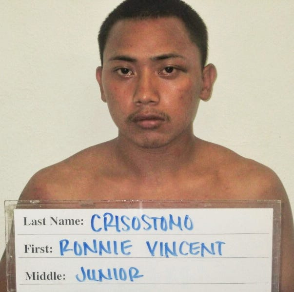 Ronnie Vincent Crisostomo, wanted man, arrested by Guam police