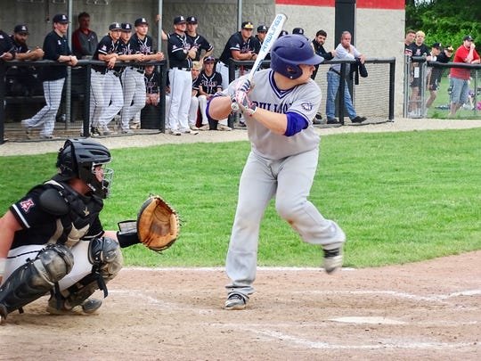 Bloom-Carroll sophomore Hobie Scarberry had a two-run double in the top of the seventh inning to help the Bulldogs take the lead in a 3-2 upset win over No. 4 seed Jonathan Alder on Thursday.