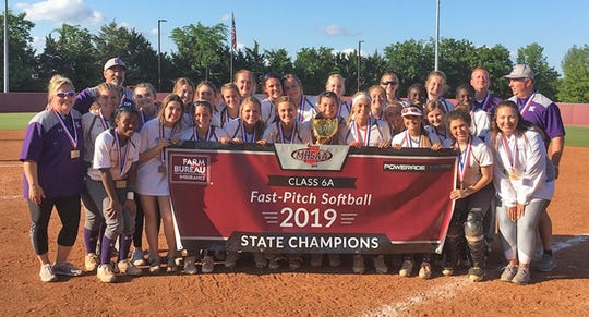 The DeSoto Central Jaguars won their second consecutive Mississippi High School Activities Association Class 6A softball championship beating Brandon at Mississippi State University.