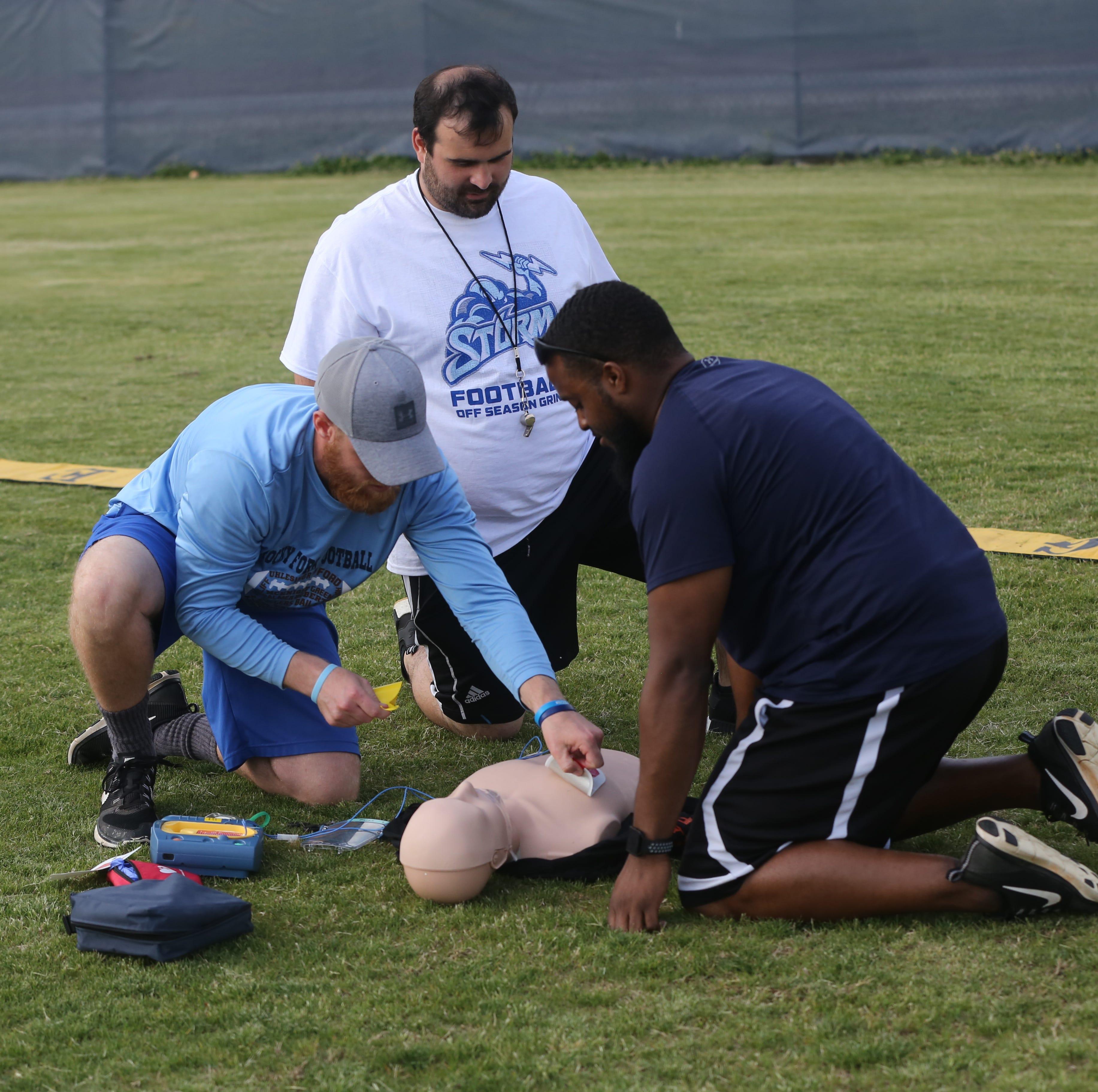 Area coaches getting first-hand cardiac emergency training