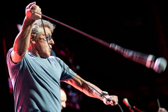 Roger Daltrey of The Who performs at Bridgestone Arena in Nashville, Tenn., Thursday, May 16, 2019.