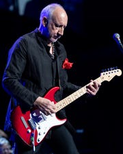 Pete Townshend of The Who performs at Bridgestone Arena in Nashville, Tenn., Thursday, May 16, 2019.