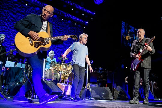 The Who perform at Bridgestone Arena in Nashville, Tenn., Thursday, May 16, 2019.
