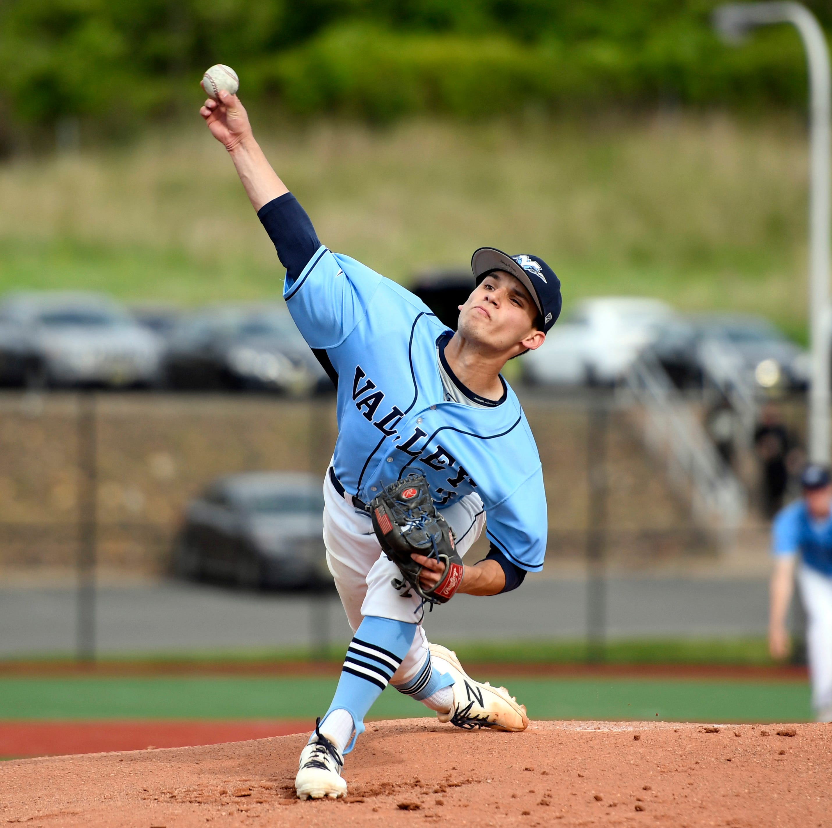 Wayne Valley pitcher Chris Coleman. Wayne Valley defeated Passaic Valley 2-1 in the Passaic County baseball championship on Thursday, May 16, 2019, in Wayne.