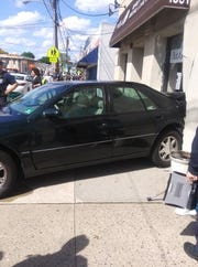 A car that was backed up into a Bloomfield jewelry store May 16, 2019.