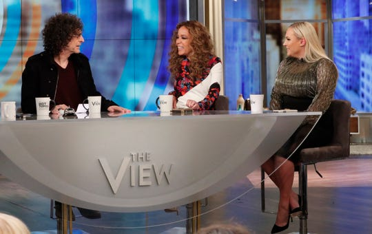 "Howard Stern chatted with Meghan McCain (left) and Sunny Hostin on ABC's ""The View"" on May 15, 2019."