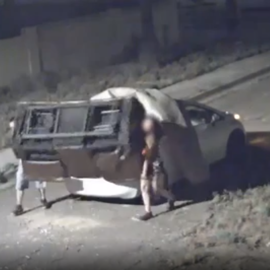 Check out the illegal dumping that Phoenix caught on camera
