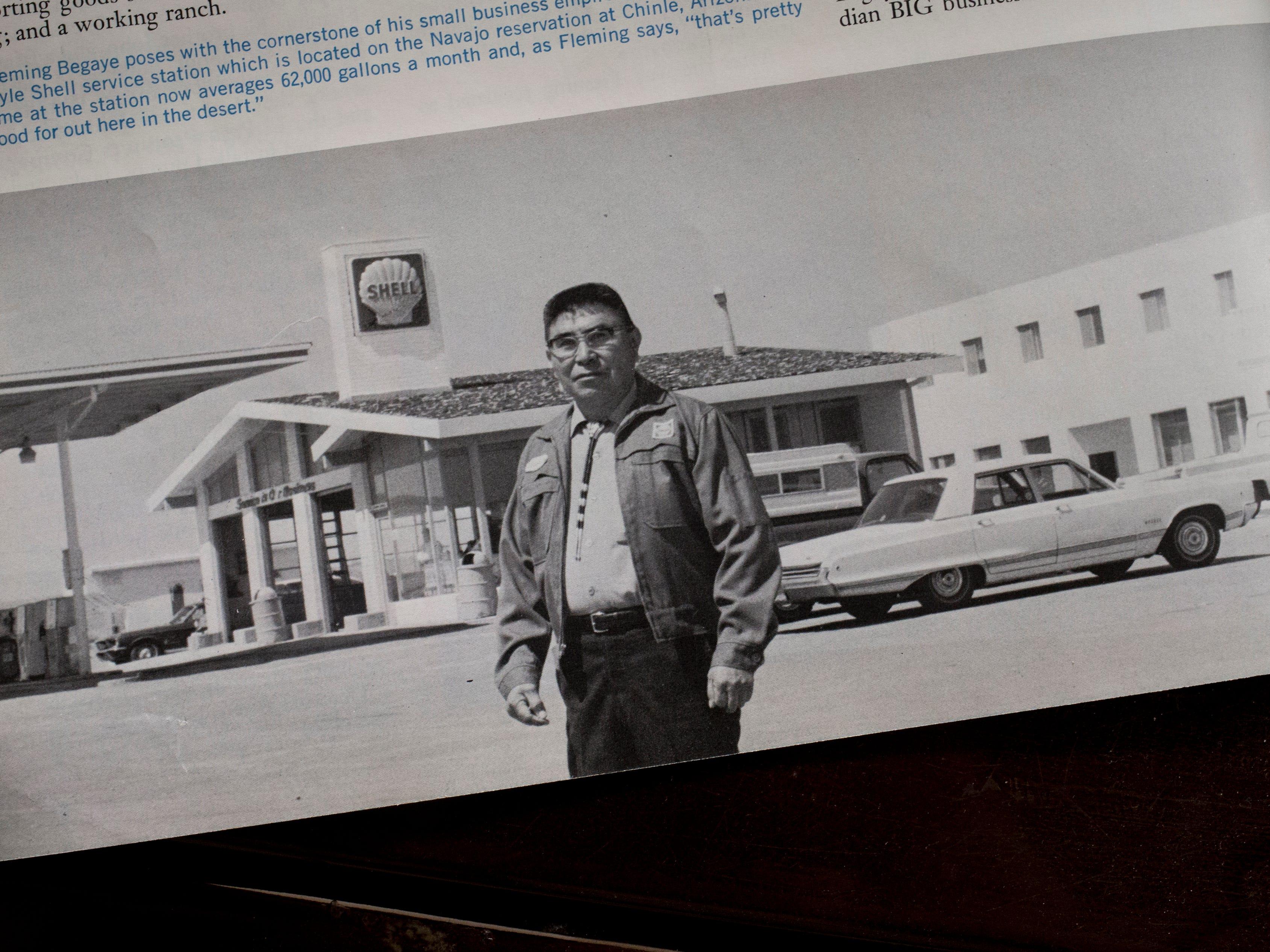 A photo of Fleming Begaye Sr. from a 1971 Shell Progress magazine.
