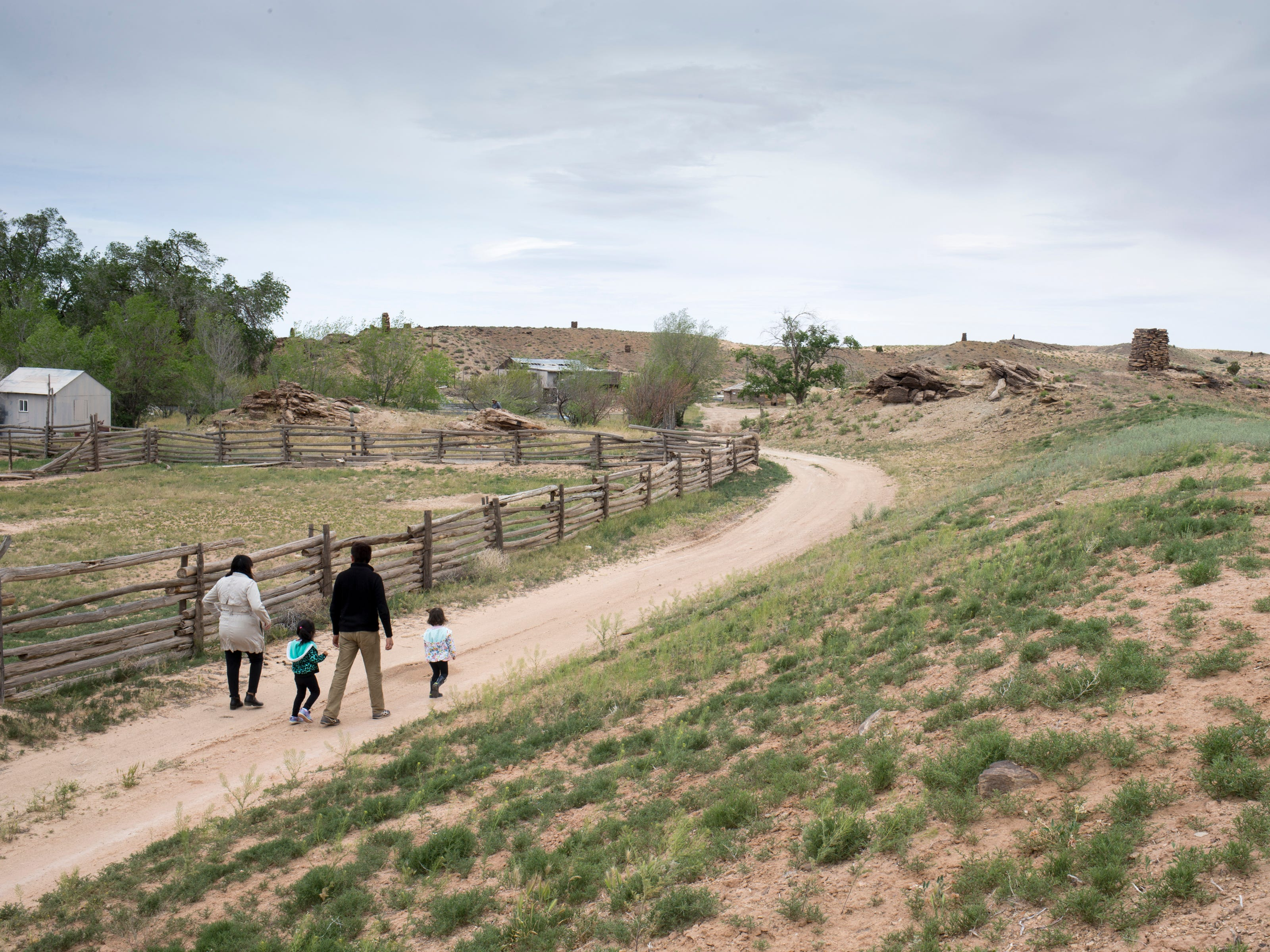 The Begaye family farm in the Salt Water Canyon, east of Many Farms, Ariz., on May 16, 2019.