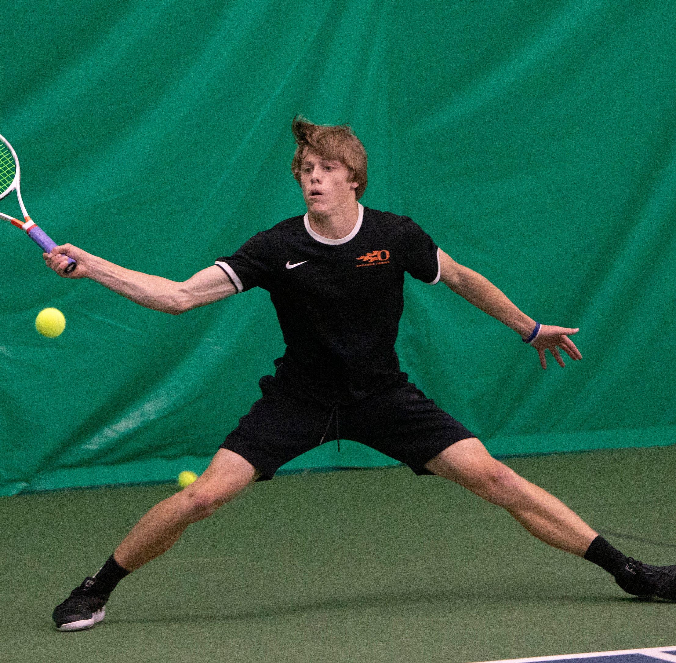 OSAA tennis: Sprague's Judson Blair cruises into state quarterfinals