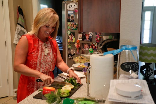 Anna Jones prepares healthy recipes for stroke prevention in her Tallahassee home kitchen Thursday, May 16, 2019.