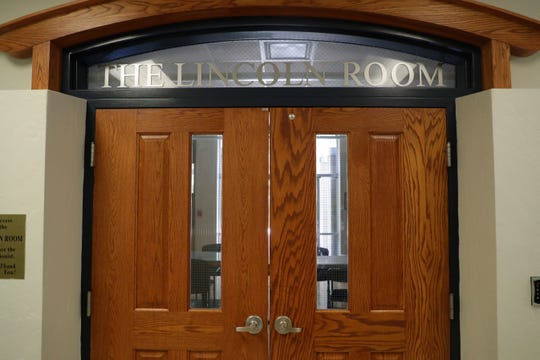 """The Lincoln Room was the brainchild of William """"Mack"""" Rush. He wanted to honor the memory of Lincoln High School, which shut down in 1969. The room is now located in the Lincoln Center, the old Lincoln High School and contains a collection of pictures, items and memorabilia from the school."""