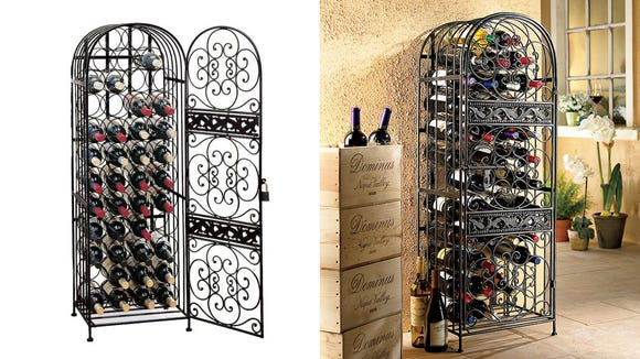 This rack is perfect for the vino lovers in your life.