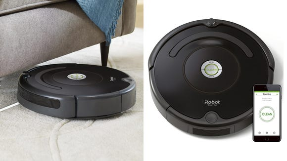 Keep floors looking tidy with this convenient iRobot Roomba 675.