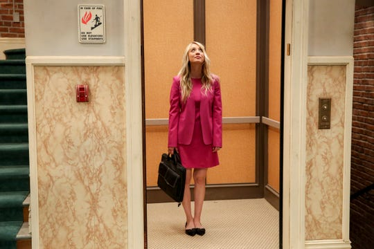 The elevator is finally working in the series finale of 'The Big Bang Theory' and Penny (Kaley Cuoco) is enjoying the ride.