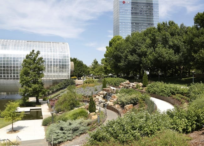 Check out the Myriad Botanical Gardens during a guided walking tour. [The Oklahoman Archives]
