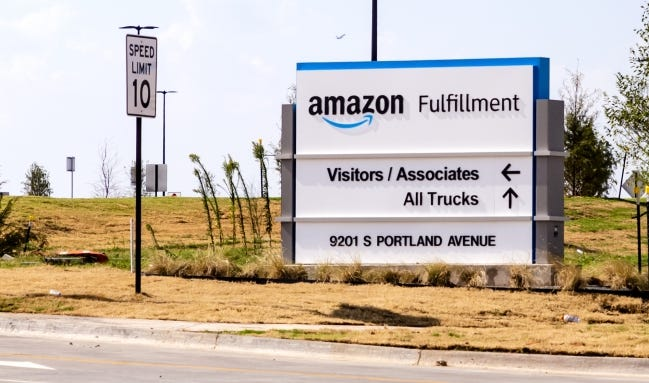 The Amazon Fulfillment facility at 9201 S. Portland Ave. in Oklahoma City. A second fulfillment center is being built in Oklahoma City near the first. [Chris Landsberger/The Oklahoman]