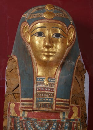 The Mabee-Gerrer Museum of Art's two Egyptian mummies are the only ones in Oklahoma. The older and better preserved, Tutu, is especially beloved. [Photo provided]