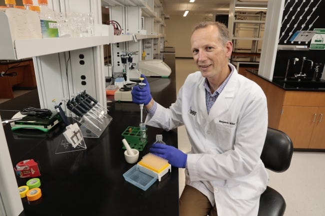 Oklahoma Medical Research Foundation scientist Benjamin Miller, Ph.D. [Photo provided]