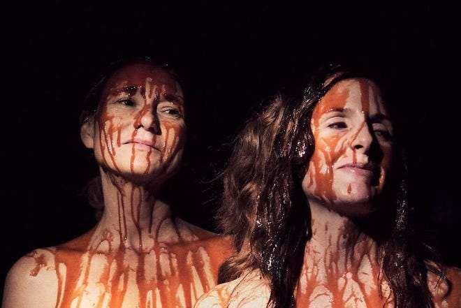 """Mary Buss, left, and Ginger Gilmartin star in Oklahoma filmmaker Mickey Reece's horror movie """"Climate of the Hunter."""" [Photo provided]"""