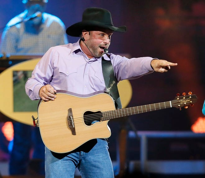 Garth Brooks performs during his 7 p.m. show at the Chesapeake Energy Arena in Oklahoma City, Friday, July 14, 2017. [The Oklahoman Archives]