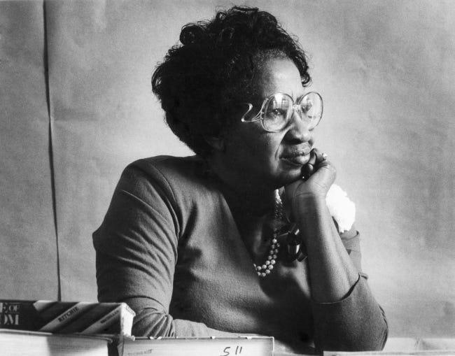 Clara Luper, civil rights activist, in a 1988 Oklahoman file photo by Jim Argo.
