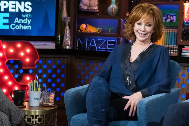 """Reba McEntire appears on """"Watch What Happens Live with Andy Cohen."""" [Photo by Charles Sykes/Bravo]"""