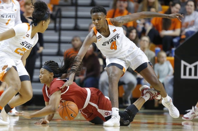 Oklahoma State's Natasha Mack (4) is fourth nationally in blocked shots. [Bryan Terry/The Oklahoman]