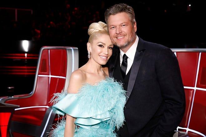"Gwen Stefani and Blake Shelton appear on ""The Voice."" [Photo by Trae Patton/NBC]"