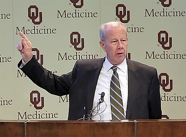 Dr. Dale Bratzler, enterprise chief quality officer, OU Medicine.