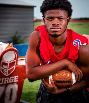 John Marshall High School's Bryce Stephens poses for a photo at the school on Thursday, July 16, 2020, in Oklahoma City, Okla. [Chris Landsberger/The Oklahoman]