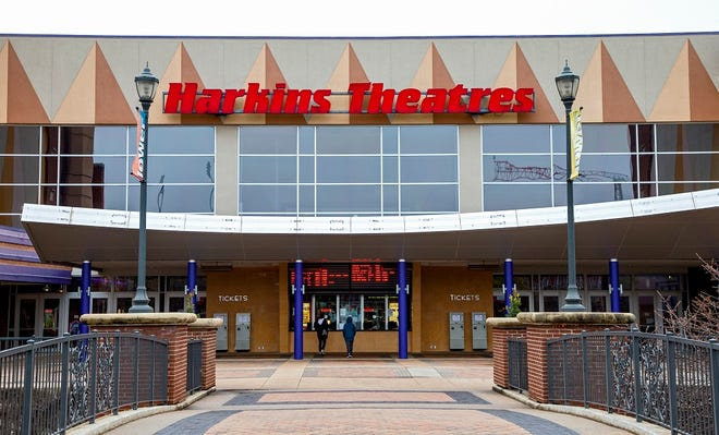 Harkins Bricktown 16 is shown in Oklahoma City, Okla. on Monday, March 16, 2020. [Chris Landsberger/The Oklahoman Archives]