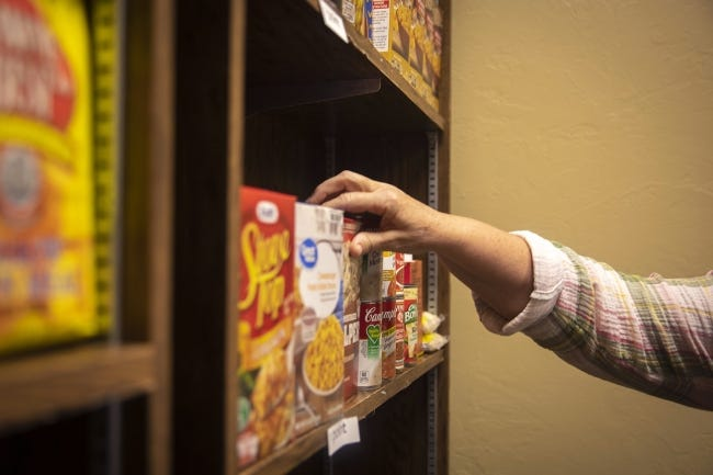 The Good Things Food Pantry provides Oklahoma Baptist University students with needed food items in order to promote success inside and outside the classroom. [Heather Hamilton/OBU Photos]