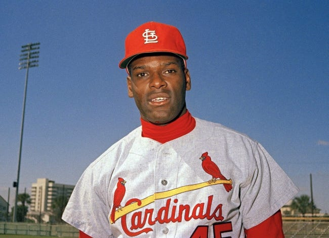 Bob Gibson, the dominating pitcher who won a record seven consecutive World Series starts and set a modern standard for excellence when he finished the 1968 season with a 1.12 ERA, died Oct. 2. He was 84. [AP Photo, File]