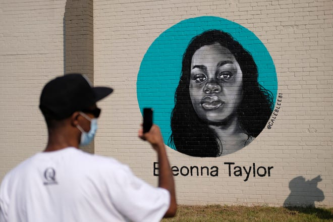 Celebration of With Love, an Eastside Public Art Project, where six local black artists painted murals on the side of The Market building at 1708 NE 23rd St. and included music and food Saturday, October 3, 2020. [Doug Hoke/The Oklahoman]