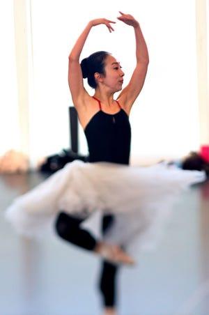 Principal Dancer DaYoung Jung rehearses at Oklahoma City Ballet Monday, April 8, 2019. [Doug Hoke/The Oklahoman Archives]