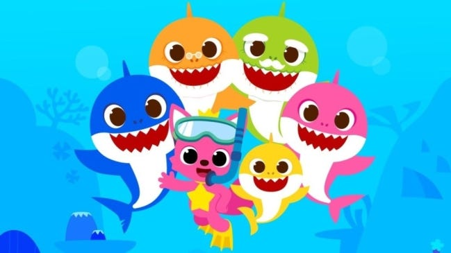 An image from a Baby Shark video.