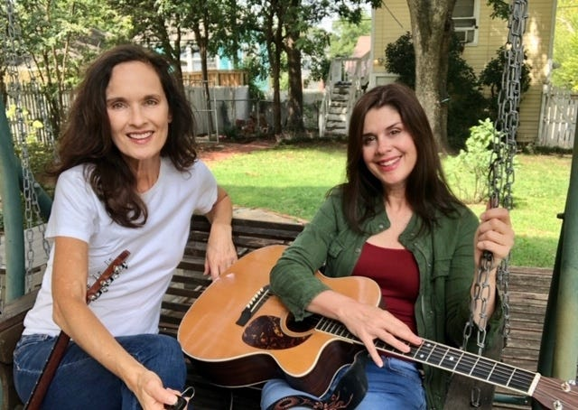 Susan Pierce, left, and Robin Brooks make up Middle Sister, which will perform Saturday at the Arcadia Round Barn. [PHOTO PROVIDED]